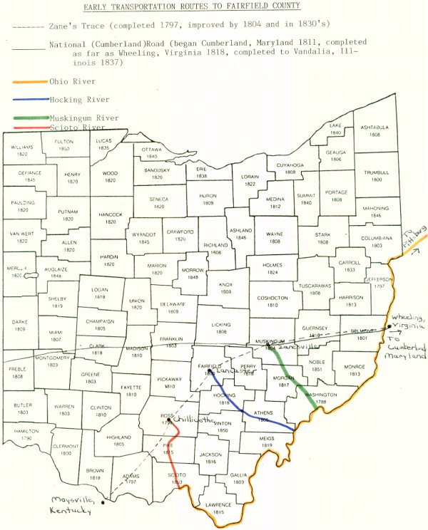 Ohio Immigration routes